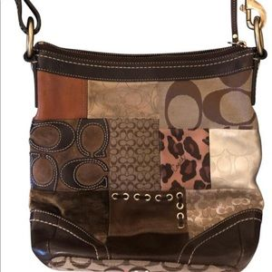 Coach Dark brown leather hobo bag